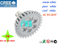 5pcs/lot NEW Big spotlight 7W E27 AC 85-265V  Pa 30 38 Warm white/Pure white/Cool white led spotlight Lamp Bulb Free Shipping