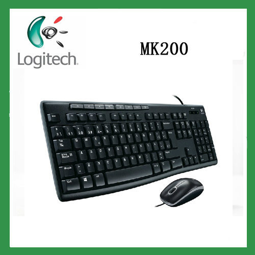 New arrival Original Genuine Logitech mk200 Computer Combo set high quality multimedia mouse and keyboard(China (Mainland))