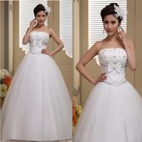 2013 new arrival wedding dress formal dress sweet princess petals tube top wedding dress