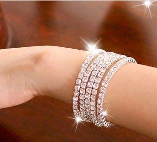 Hot-selling bracelet single row rhinestone star bracelet accessories female