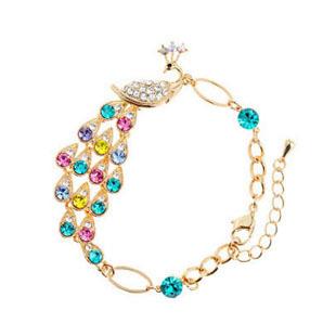 Accessories elegant crystal peacock bracelet female fashion jewelry girlfriend gifts