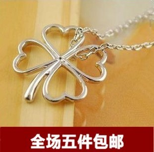 Four leaf clover necklace female short design fashion accessories clothing accessories hangings accessories(China (Mainland))