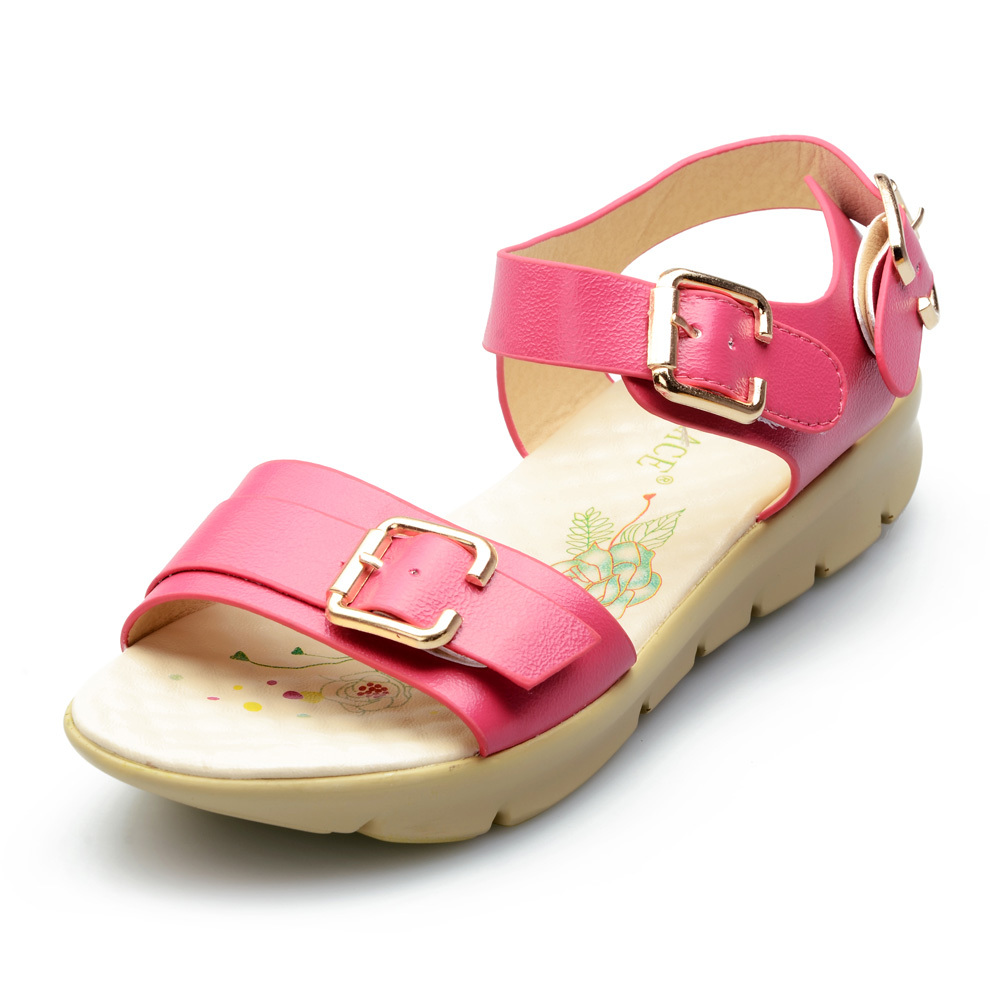 Womens Summer Belt Buckle Sandals Flats Fashion Thongs T Straps Ladies Shoes(China (Mainland))