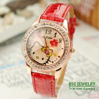 2014 New fashion cute women quartz wrist watches for promotion