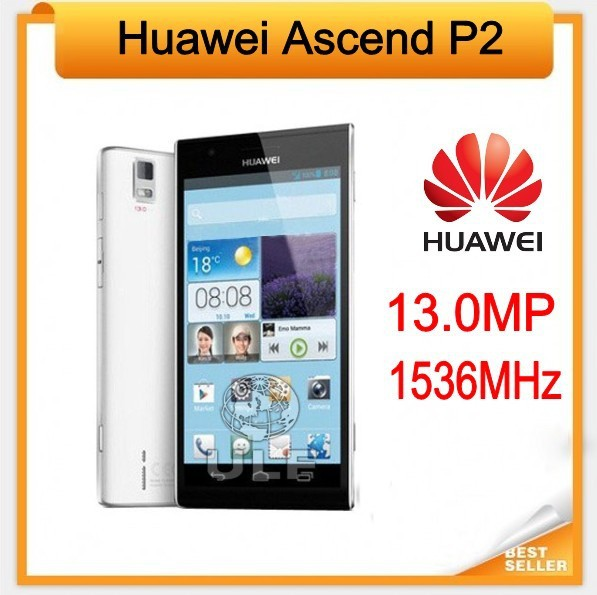 In Stock!!!Brand New Original Huawei Ascend P2 Quad Core 4G LTE Mobile Phone Android 4.1 1GB/16GB 13.0MP EMS/DHL Free Shipping(China (Mainland))
