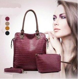 HotDealNew Stylish Crocodile Pattern Genuine Leather Women Handbags Brand Ladies Totes Bags Popular Handbags Free Shipping 1330(China (Mainland))