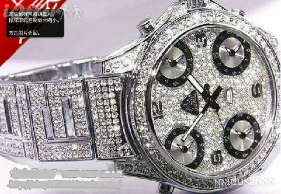 100% Original New silver full iced bling bling watch diamond(China (Mainland))