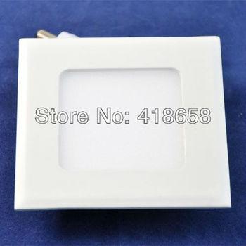 Wholesale,3w square led panel light,2835 SMD(15pcs),Cool white/Warm white,165lm,AC85-265V,led ceiling light,freeshipping\