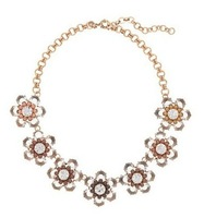 2013 new arrival Auth High Quality JC BLACK AND WHITE BLOOM NECKLACE,free shipping statement necklace