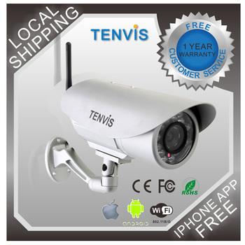 Tenvis Wireless IP Camera Outdoor Waterproof Security WIFI IR Network Surveillance Camera IR-Cut Filter IP391W