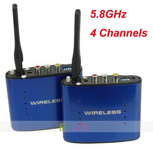 PAT-630 5.8GHz ISM 4 Channels Wireless AV Audio Video Sender Transmitter Receiver shipping free(China (Mainland))