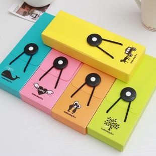 Multicolour 3278 brief fashion elastic strap button stationery pencil case pencil case(China (Mainland))