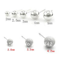 925 pure silver stud earring female earrings handmade pure silver zhaohao anti-allergic accessories interaural