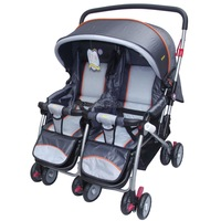 Mosquito net twin trolley bb baby car double stroller