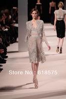 Vintage Two Pieces Lace Appliqued Swetheart Long Sleeve Spring 2013 Elie Saab Dresses for Sale