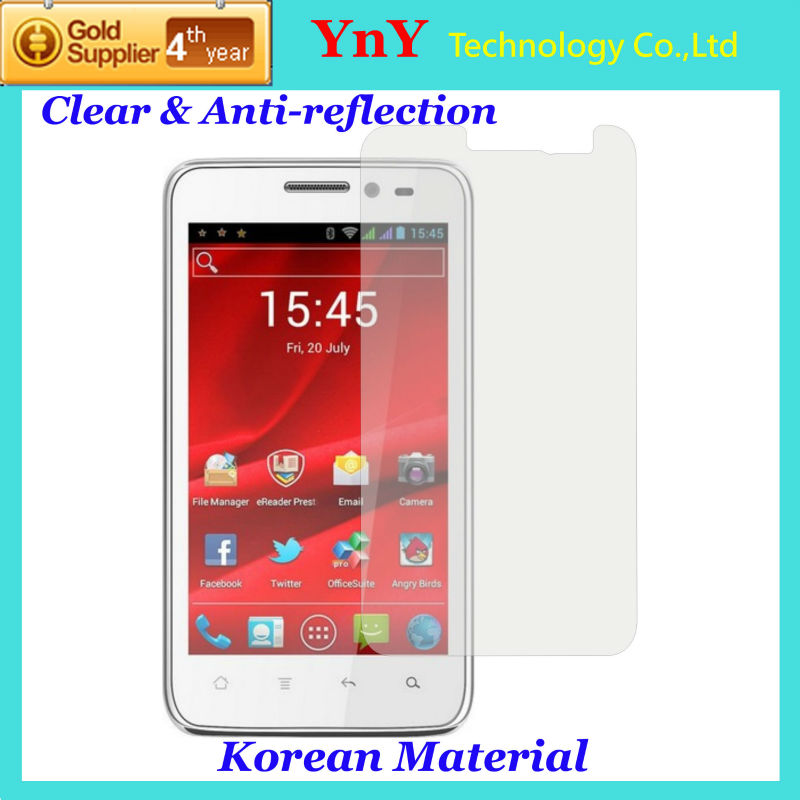 USA Optical PET Screen Protector for Prestigio MultiPhone 4300 DUO YNY-AR USA Material Anti-reflection &amp; Ultra-clear(China (Mainland))
