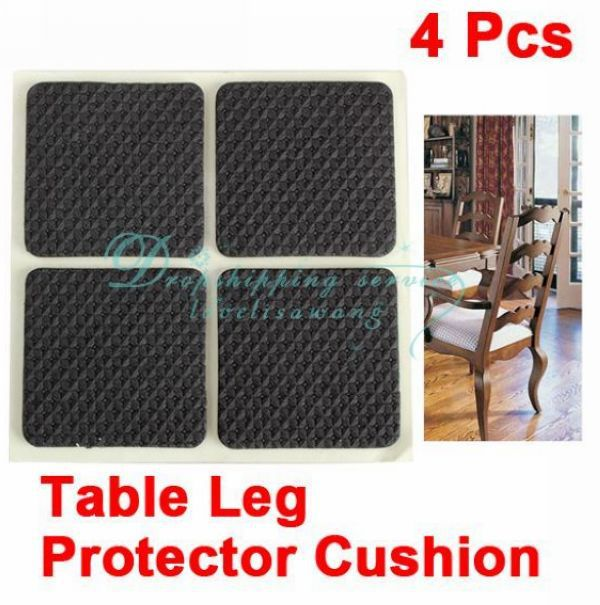 DHL shipping Wholesale 10 X 4 Pcs Square Chair Table Desk Wardrobe Leg Foot Cushion Protector Sticky Mat(China (Mainland))