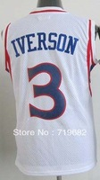 Free Shipping,#3 Allen Iverson Kids/Youth Basketball Jersey,Stitched Logos,Size S--XL,Accept Mix Order