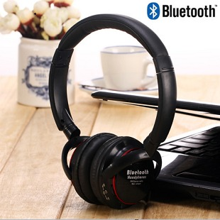 Stereo headset wireless bluetooth earphones computer wireless headset band fm radio bluetooth card earphones(China (Mainland))
