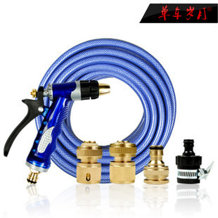 Copper connector spray gun wash water pipes car high pressure water gun water pump portable household washing tools washing(China (Mainland))