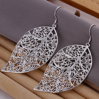 GSSPE128 wholesale, 925 silver leaves earrings,hight quality,fashion/classic jewelry, Nickle free,factory price