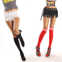 Big heloma 3 unique tassel ds dance sexy low-waist shorts