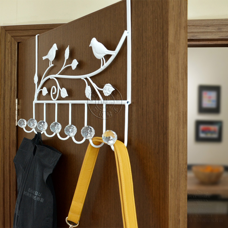 Free shipping 2013 Wrought iron door after seamless hangers iron hook coatless hanger(China (Mainland))