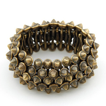 H044 new jewelry Joke show European and American retro punk exaggerated domineering personality rivet stretch bracelet