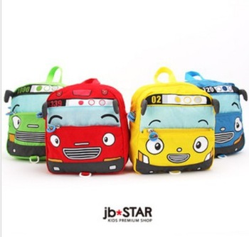 Free shipping!! Retail1pc/lot TAYO bus design girls boys  backpacks children school bags baby kindergarden backpack