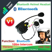 HOT Sale,1PC Wholesale Free Shipping ,MP3 & GPS,100m,Bluetooth Helmet Headset,Motorcycle Intercom