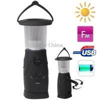 NEW Multi-function Dynamo / Solar FM Radio Camping Lantern with Alarm and Mobile Phone Charger Function(China (Mainland))