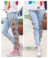 Female singer costume lady gaga skinny pants pencil pants slim hip