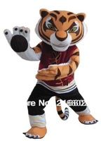 Tigress Tiger Kung Fu Panda Friend Crtoon Mascot adult Costume sales, Free Shipping