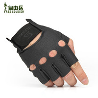 Brand;Free Soldier FS-ST15 Ride Gloves Outdoor Hiking Men Women Half Breathable Gloves Tactical Gloves & Mittens PU Black S- XL