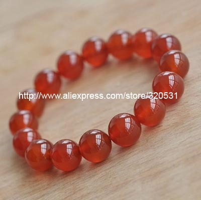 red agate 12mm bracelet(China (Mainland))