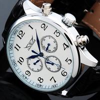 Black Automatic Watch 6 Hands Multifunction Mechanical Watch Wrist watch Free Ship