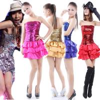Nobody paillette fashion costume ds lead dancer clothing one-piece dress female dance clothes