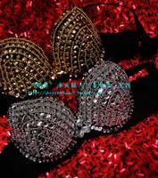 Customize plus size bra beading underwear rhinestone paillette bra mounted miss clothes ds