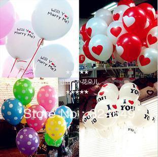 Free shipping  Valentine wedding decoration 12-inch thick balloon