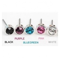 E51  small  crystal stud  earrings multicolor earring  free shipping (Min order $10 mixed order)