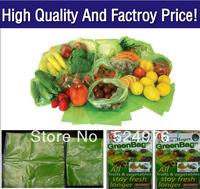 Free shipping Fedex IE! 50 sets /lot  (1 sets=20pcs)  Reusable Debbie Meyer Greenbags Food Saver Bags Stay Fresh Longer