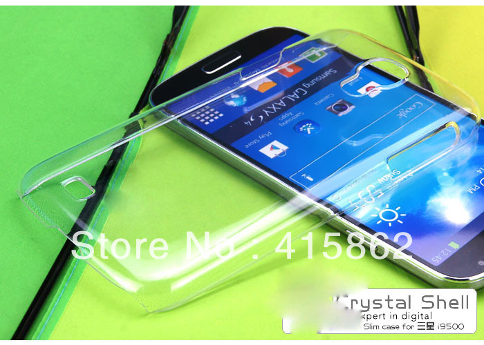 For Samsung Galaxy S4 i9500 i9508 Transparency Clear Crystal Hard Back Cover Case(China (Mainland))