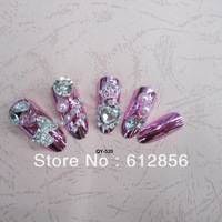 Excellent 24*Artificial Noble Design 3D Acrylic False Nail Fake nails