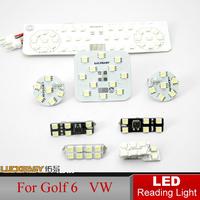 LED Reading Light for Golf 6 Golf6 VW Volkswagen 8pcs/set Auto Interior Full Set LED Dome lamps Interior Lighting Fast HK Post