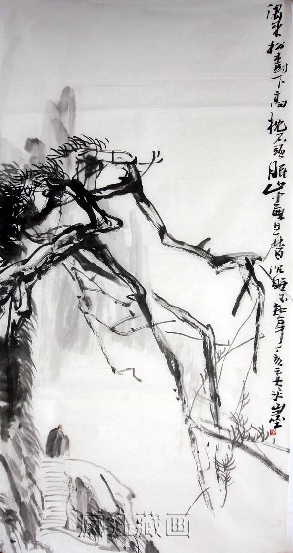 ENORME Frete grátis Oriental asiático tinta de pincel originais da arte chinesa painting100 % artesanal de lavagem da tinta pintura 136x68cm WBS3(China (Mainland))