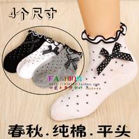 Spring and autumn 100% laciness cotton children socks princess socks baby child socks student socks 1129