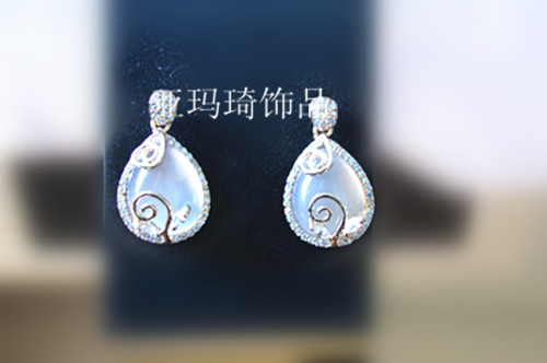 Jewelry accessories gift gem inlaying decoration earrings gold plated accessories hot-selling crystal diamond(China (Mainland))
