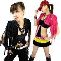 Jazz sexy tassel vest waistcoat stage clothing fashion female singer ds costume