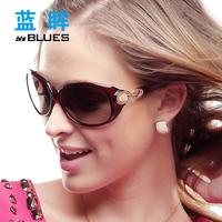 Large gradient sunglasses polarized sunglasses fashion sunglasses female women's glasses sunglasses mirror driver