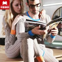 Crab sleepwear lounge set slim 100% cotton skull print lovers underwear